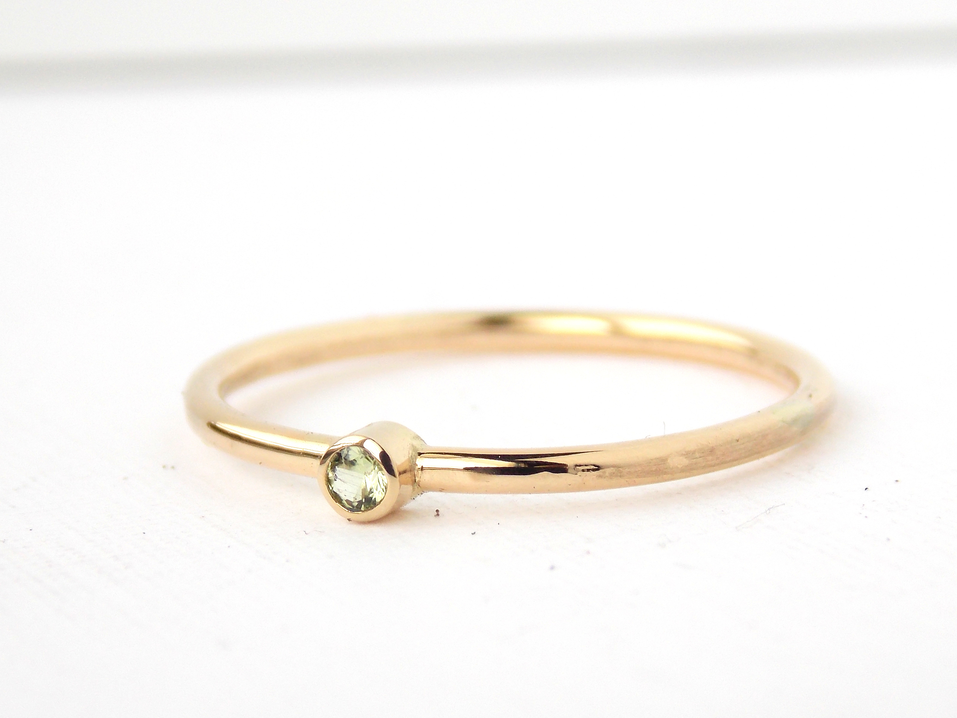 Tiny Yellow Gold-filled Birthstone Ring: 14K Gold-filled Ring ...